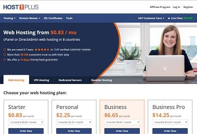 host1plus- OVZ 256m内存 20g硬盘 500g流量 洛杉矶 德国 $16/年-VPS推荐网