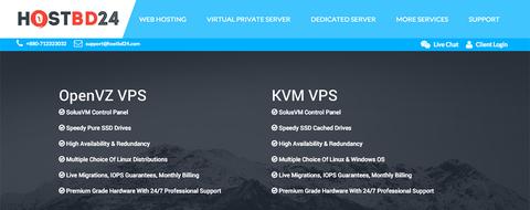 便宜vps:HOSTBD24 OpenVZ 256MB 15G SSD/500GB 洛杉矶 $1.3/月-VPS推荐网