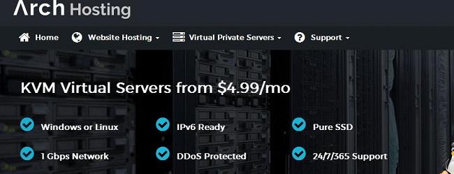 ArchHosting 美国vps/洛杉矶QN/KVM/SSD硬盘 $5.99/mo-VPS推荐网