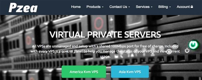 2018年4月pzea亚洲vps优惠码/1G内存 月付9.8美元