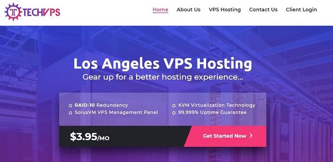 TechVPS 便宜KVM VPS服务器/1G内存/洛杉矶QN机房/年付18美元