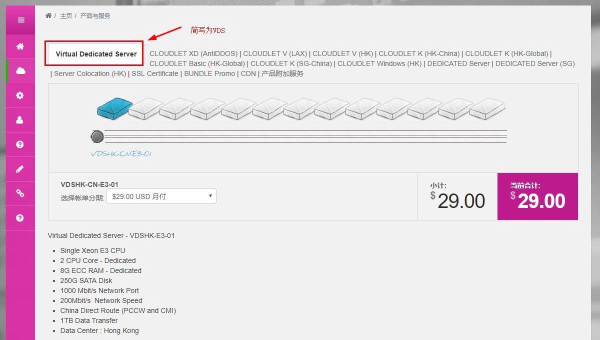 GigsGigsCloud 香港200Mbps带宽VDS独享主机补货/8G内存/250G容量/月付29美元-VPS推荐网