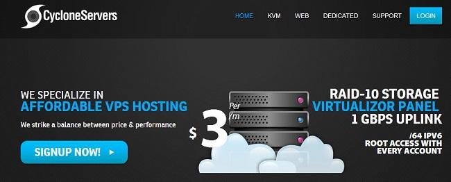 CycloneServers美国KVM VPS主机优惠/1G内存/25G SSD/洛杉矶&西雅图/月付4.35美元-VPS推荐网