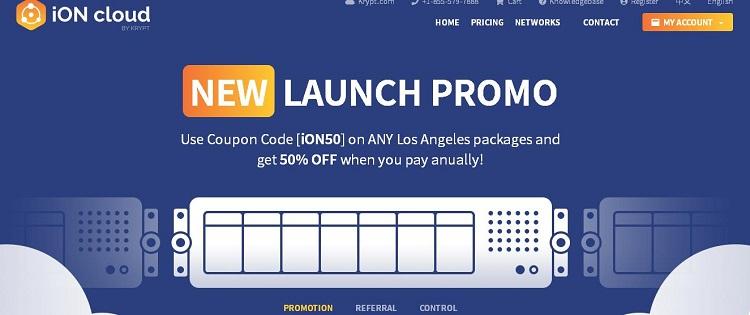 Krypt iON云服务器上线,洛杉矶机房/双向CN2 GT网络,年付5折循环优惠-VPS推荐网