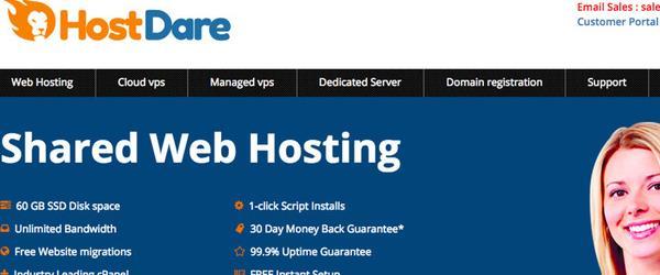 HostDare美国cn2网络KVM VPS服务器优惠/洛杉矶地区/100Mbps带宽/年付39美元起-VPS推荐网