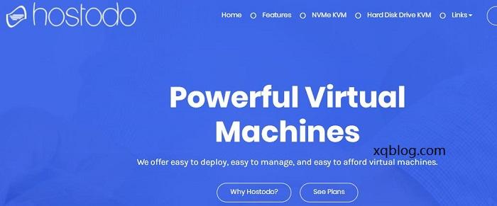 #黑五vps#Hostodo便宜VPS服务器/kvm架构/NVMe硬盘系列/年付14.99美元起-VPS推荐网