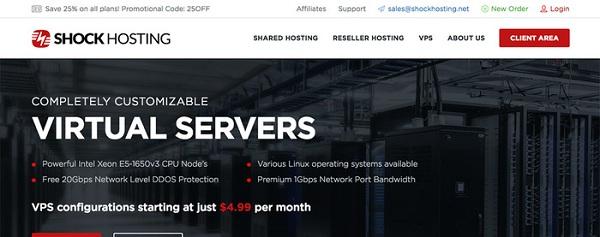 ShockHosting大硬盘VPS服务器5折优惠/1G内存/200G空间/美国多个地区可选/月付5美元起-VPS推荐网