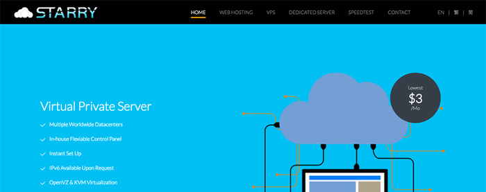 StarryDNS(星光互联)网络星期一香港&新加坡&荷兰独立服务器限时促销/100Mbps带宽/月付85.3美元起-VPS推荐网