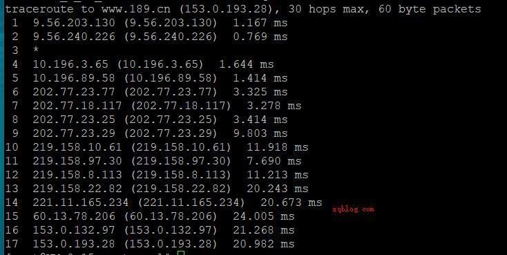 linux系统VPS服务器使用TraceRoute命令进行路由追踪查询回程-VPS推荐网