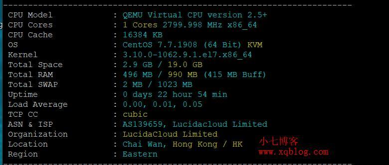 野草云香港大带宽直连建站专用VPS服务器2020年1月简单测试-VPS推荐网