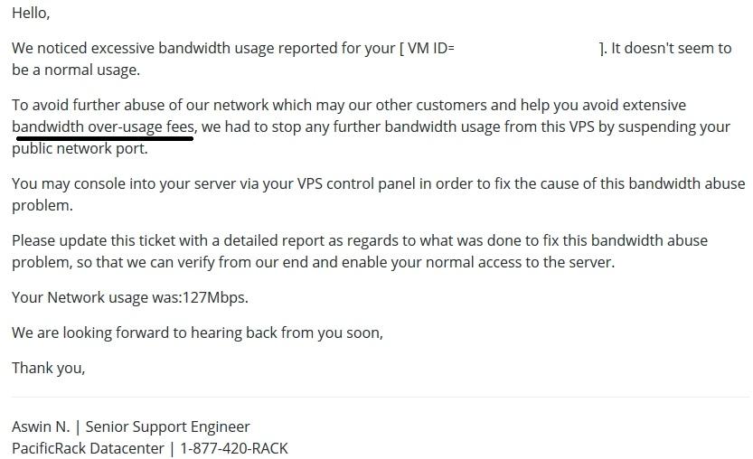 警惕:pacificrack带宽请勿滥用,不要长时间占用带宽超过100Mbps-VPS推荐网